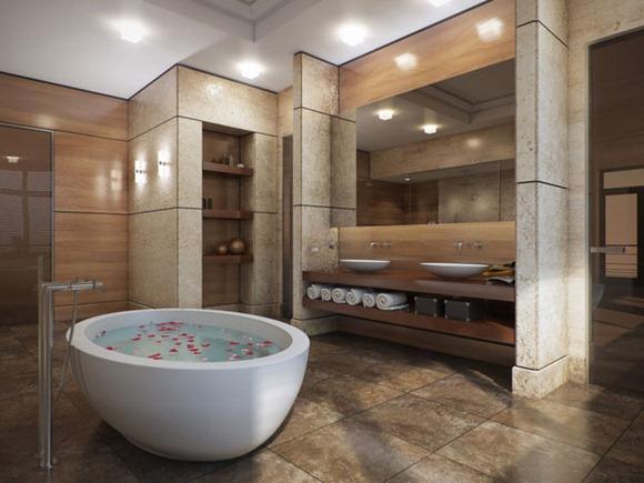 Baños Con Jacuzzi De Lujo: de espacio que tiene este cuarto de baño Una experiencia de lujo