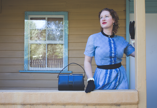 Blue Lolita 1950's vintage outfit post | Lavender & Twill