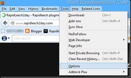 Firefox menu - Private Browsing Mode 1
