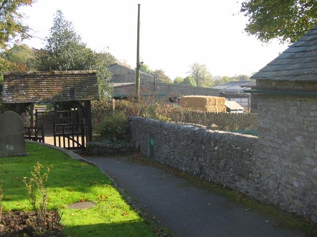 church lych gate & farm