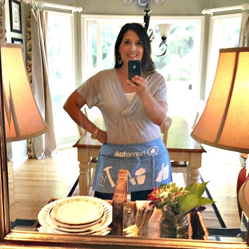 Vanessa in apron
