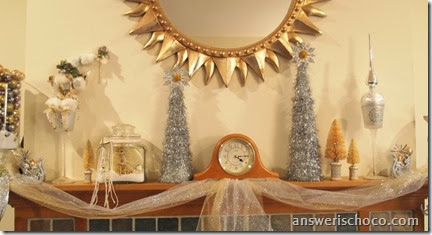 Vintage Christmas Mantle 2013