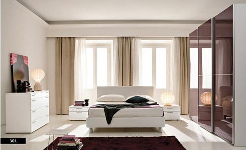 diseños de dormitorios modernos iluminados
