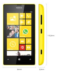 ukuran Nokia Lumia 520