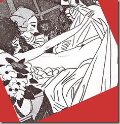 Casanova soulve les draps pour contempler sa matresse. Eau-forte de Sylvain Sauvage (1888-1948) pour les Mmoires de Giacomo Casanova