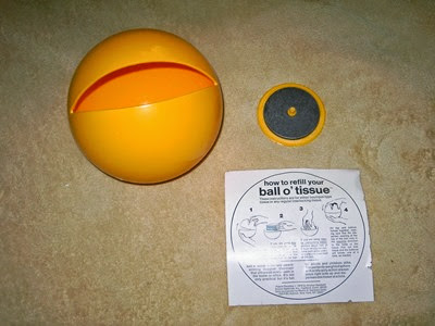 Ball O'Tissue with weight and instructions