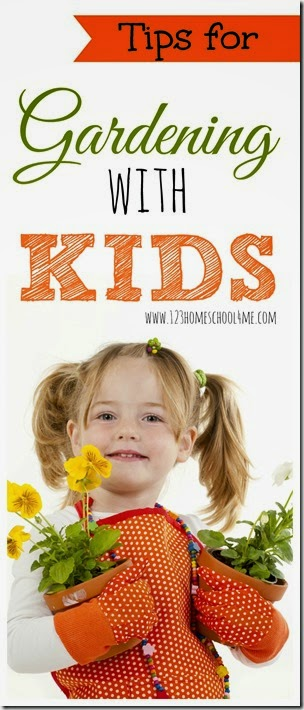 Tips for Gardening with Kids - Practical tips for gardening with kids including what to plant with kids, how to garden successfully with kids, and more. (summer activities for kids, homeschool)