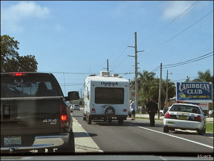pedestrian accident on overseas highway near Key largo