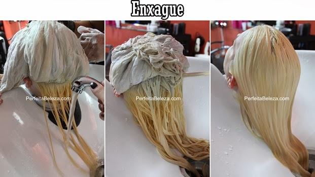 cabelo platinado, descoloração global