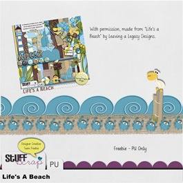 Leaving a Legacy Designs - Life's A Beach - Freebie Border Preview