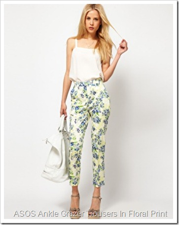 ASOS Ankle Grazer Trousers In Floral Print