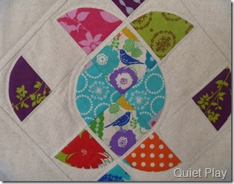 Ornate mini quilt close up