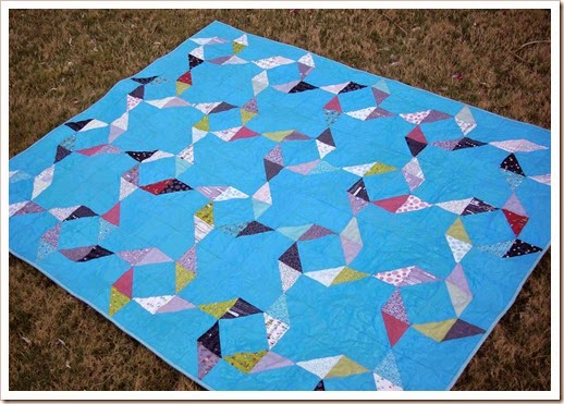 Windblown quilt with Road 15 fabric
