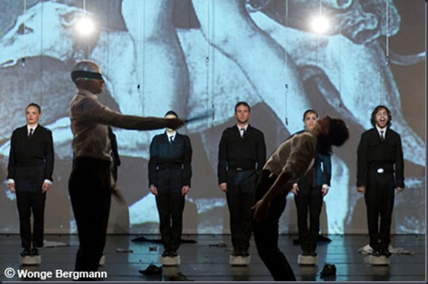 """Theatre performance """" The power of theatrical madnes """" by Jan Fabre/ Troubleyn in """" Laboratorium """" in Antwerp/ Belgium, Frtiday, 25th, May, 2012"""
