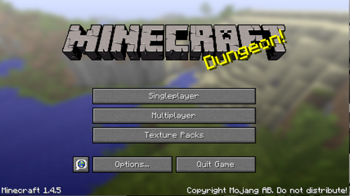 Minecraft Main Screen