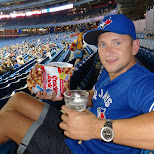 enjoying an epic bluejays game in Toronto, Ontario, Canada