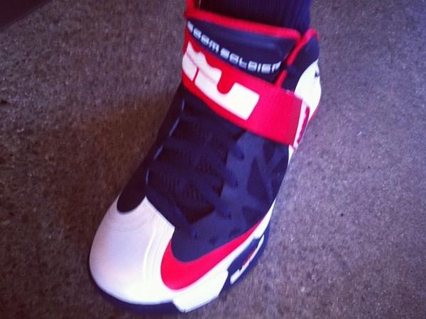 Nike Zoom Soldier 6 8220WhiteNavyRed8221 USAB On Feet Pics