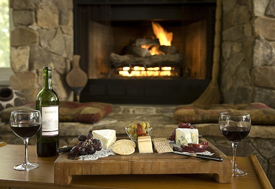 New Wine and Cheese Fireplace