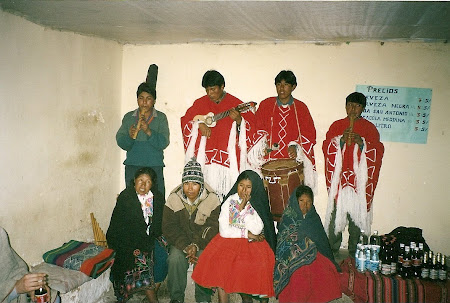 Things to do in Titicaca: traditional band on Antamani island