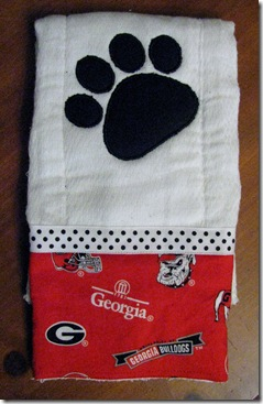 Georgia Bulldog Burpcloth