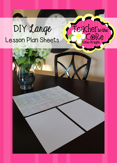 How to make BIG lesson plans. No more tiny printing