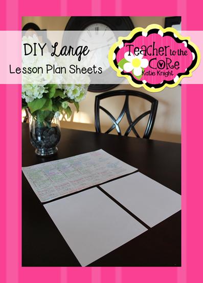 How to make BIG lesson plans. No more tiny printing