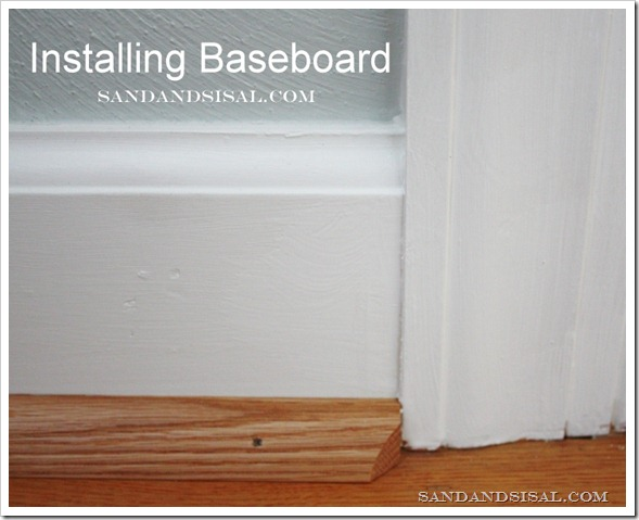 Installing Baseboard - Sand and Sisal