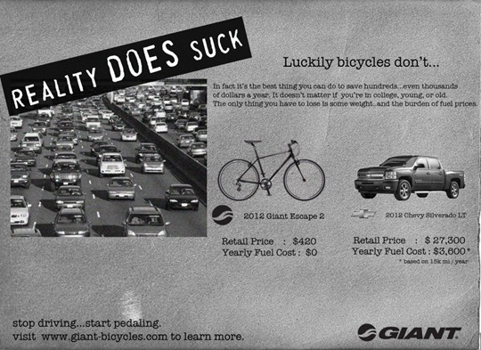 Giant Bicycle Ad - Response to GM