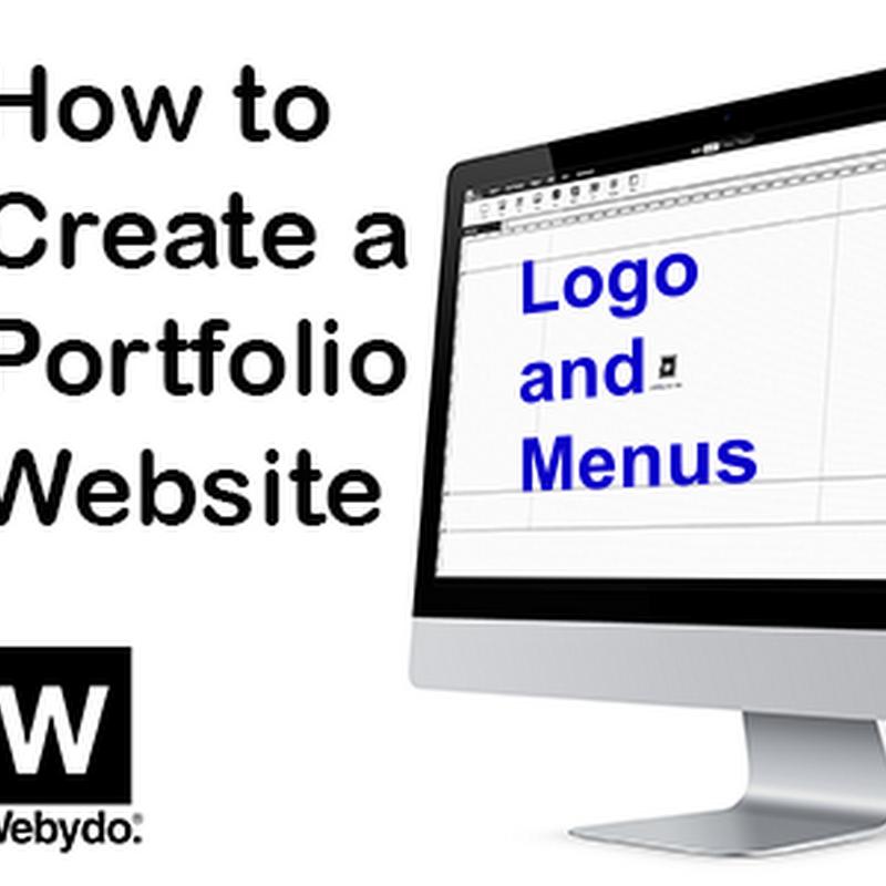 Building a Portfolio Website for Art – Logo and Navigation Menu