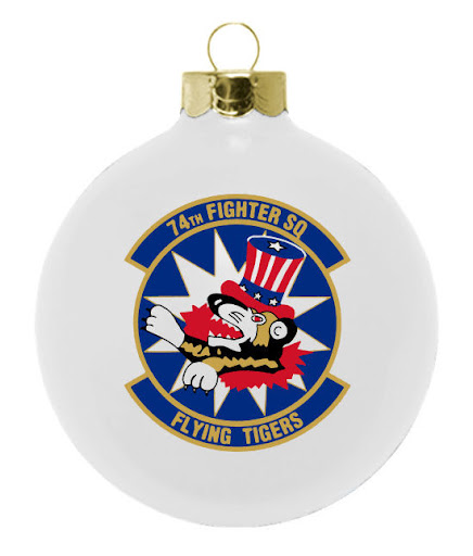 Military Forces Custom Ornaments for 74th Fighter Sq Flying Tigers : Design your ornament online at www.fundraisingornaments.com