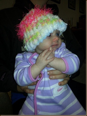 Lora in her new hat