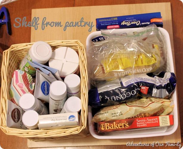 kitchen organization pantry shelf