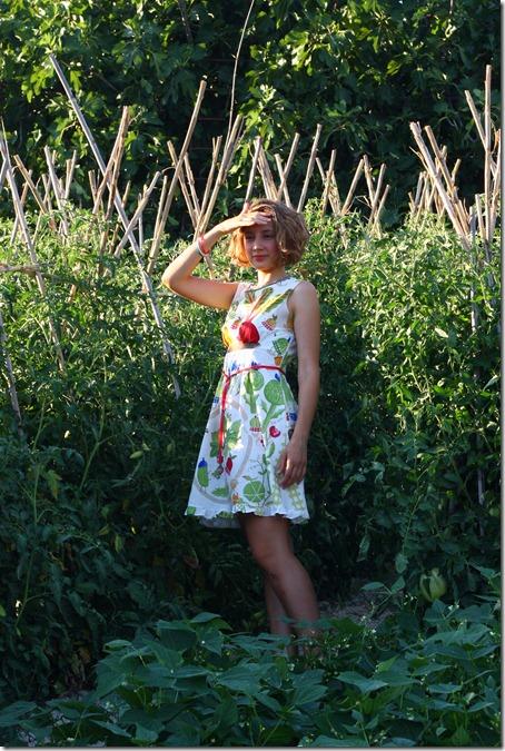 Vestito borsa orto e girasoli-006