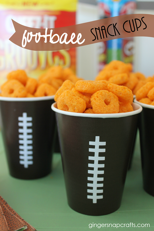 football snack cups at GingerSnapCrafts.com
