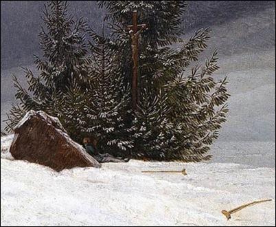 Caspar David Friedrich Winter Landscape With Church