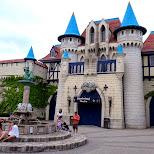 fancy castles at Canada's Wonderland in Vaughan, Ontario, Canada