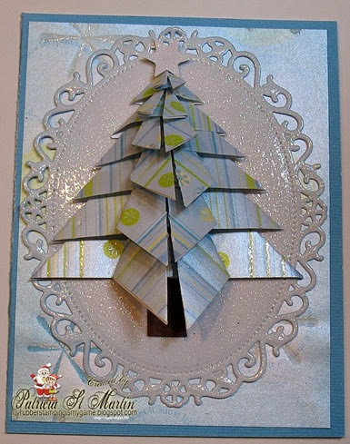 Origami Christmas tree in Blue 2013