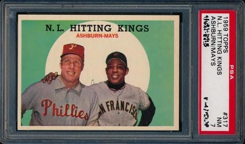 1959 Topps 317 NL Hitting Kings Ashburn-Mays