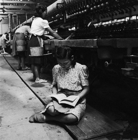 Horace Bristol [ Young Silk Worker Reading on a Break ] 1947.jpg