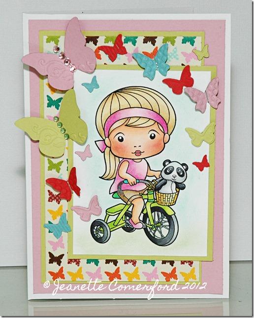Marci with bike