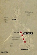 Location Map Visayas to Mindanao