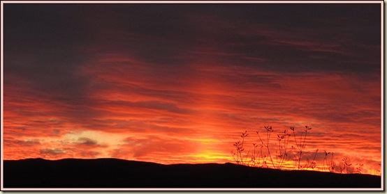 A Lake District sunset from the M6 Services at Tebay