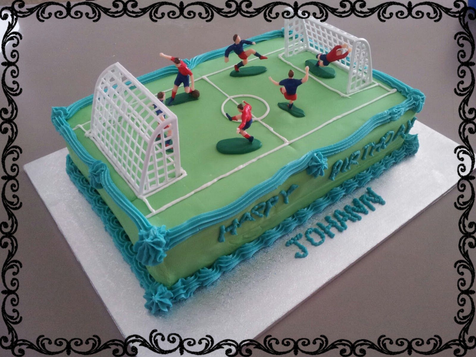 Birthday Cake For Boy 3 Years Old ~ Lucy s delicious cakes soccer field birthday cake
