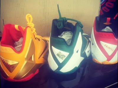 nike lebron 11 pe fairfax home 1 02 Nike LeBron 11   SVSM Home, 2x Fairfax   Player Exclusives