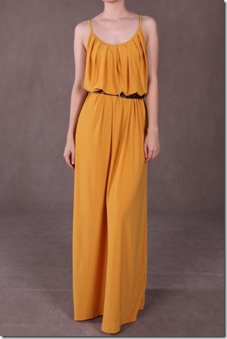 slinky-pleat-maxi-mustard