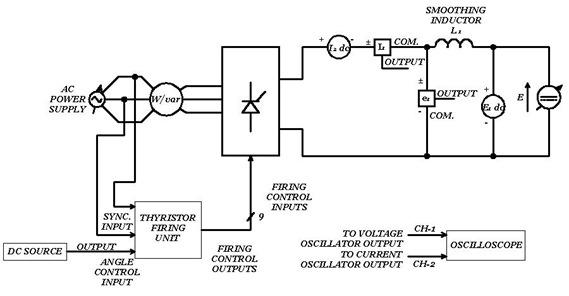 Three-phase, six-pulse converter circuit