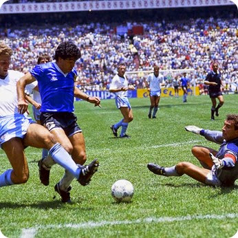 The Goal of the Century by Maradona against England in World Cup 1986