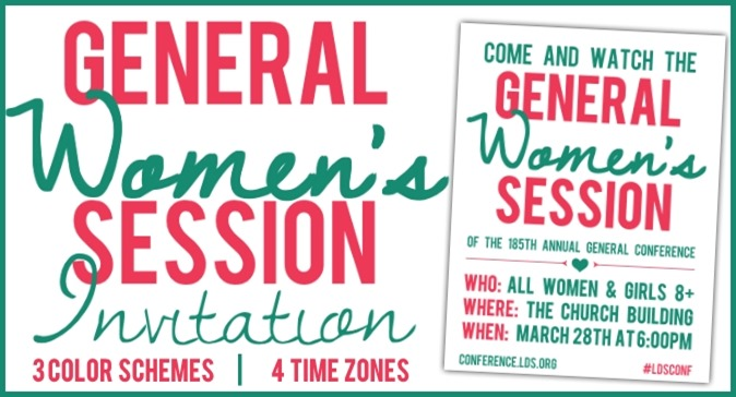 General Women's Session Invitation Free Printable in 3 colors!