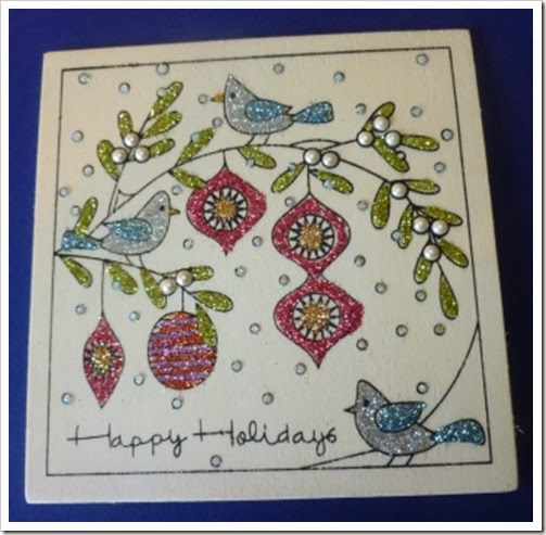 Hobbycraft Wooden Christmas Card