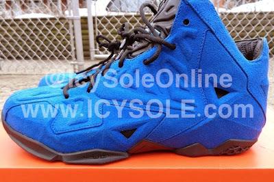 nike lebron 11 nsw sportswear ext blue suede 1 04 First Look // Nike Sportswear LeBron XI EXT Blue Suede